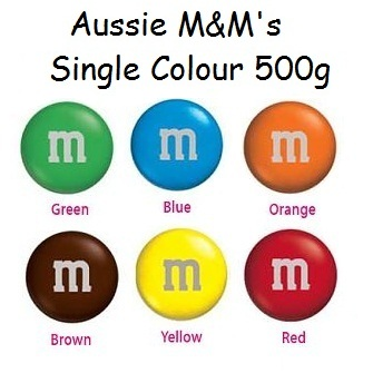 Aussie M&M's Single Colour 500g