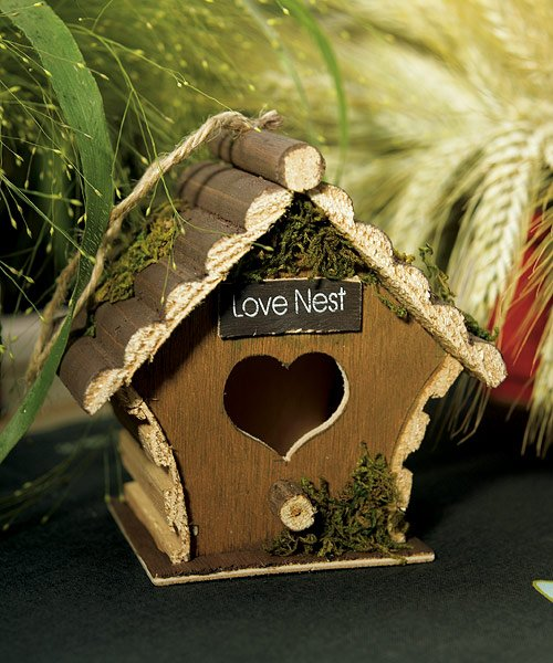 Miniature Wooden Birdhouse