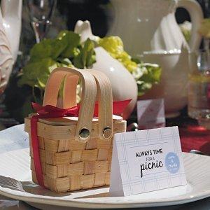 Miniature Woven Picnic Basket