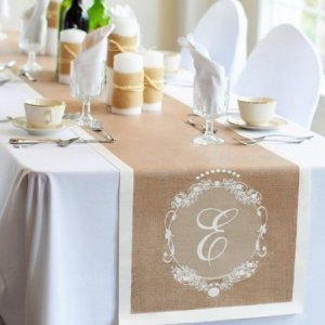 Monogrammed Country Chic Table Runner